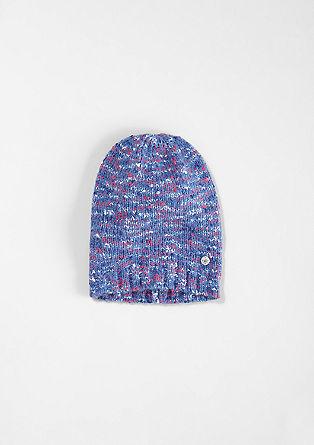 Topla pletena kapa iz melanž preje
