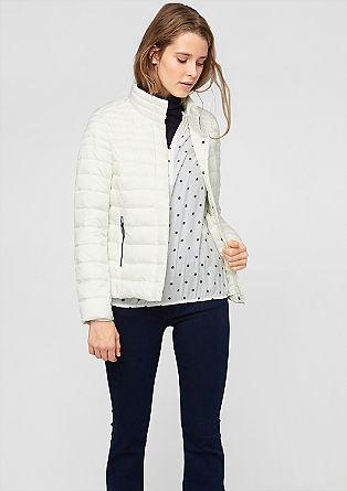Topla prešita jakna v videzu puhovke