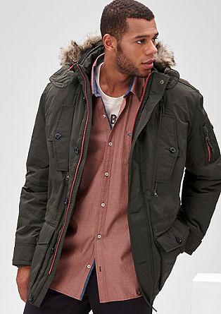 Topla zimska jakna s kontrasti