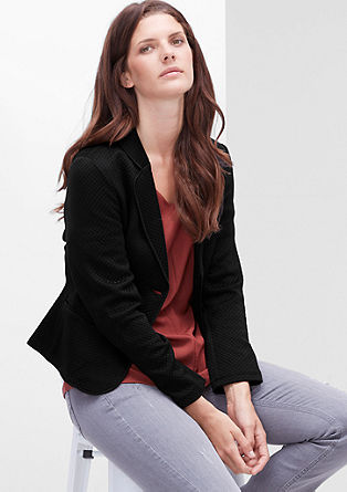 Topstitched short sweat blazer from s.Oliver