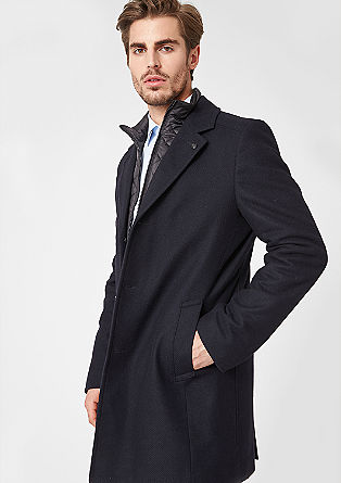 Toscana: textured wool coat from s.Oliver