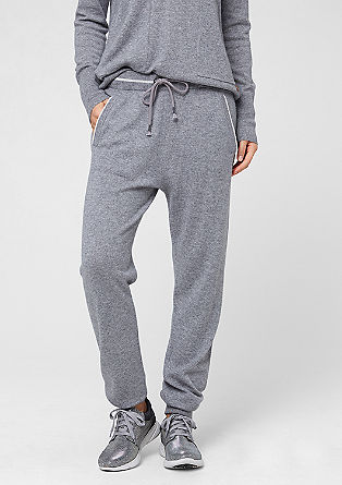 Tracksuit bottoms in a cashmere blend from s.Oliver