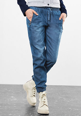 Tracksuit bottoms in lightweight denim from s.Oliver