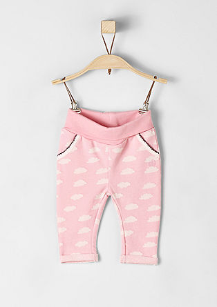 Tracksuit bottoms with a cloud print from s.Oliver