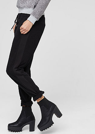 Tracksuit bottoms with a crinkled texture from s.Oliver