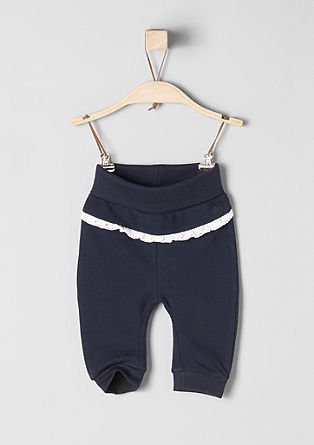 Tracksuit bottoms with a crocheted border from s.Oliver