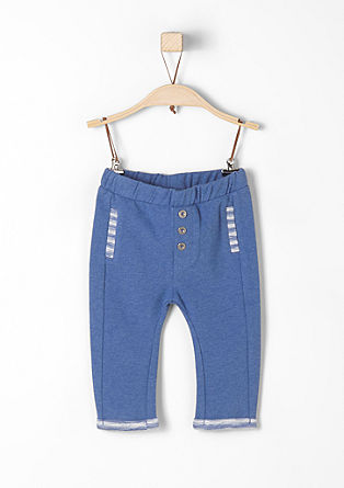 Tracksuit bottoms with a melange finish from s.Oliver