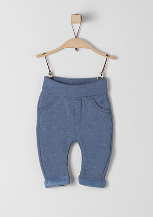 Tracksuit bottoms with a plush inner side from s.Oliver