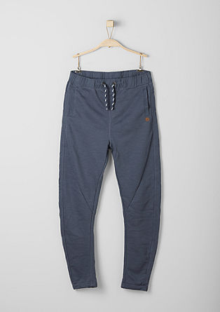 Tracksuit bottoms with a slub yarn effect from s.Oliver