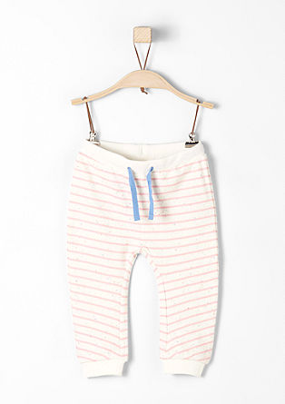 Tracksuit bottoms with a striped pattern from s.Oliver
