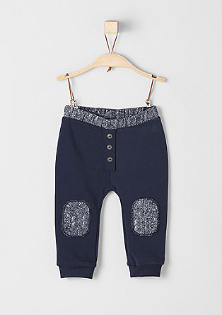 Tracksuit bottoms with buttons and patches from s.Oliver