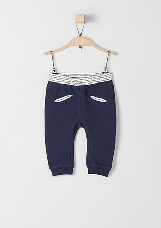 Tracksuit bottoms with contrast waistband from s.Oliver