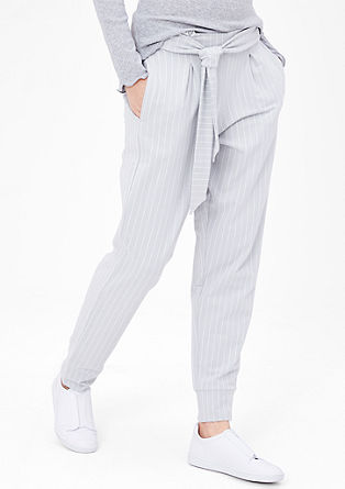 Tracksuit bottoms with pinstripes from s.Oliver