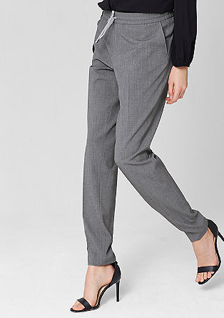 Tracksuit bottoms with pressed pleats from s.Oliver