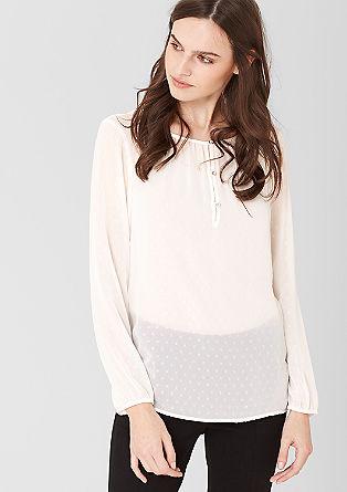 Transparante blouse met borduursels