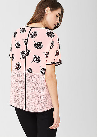 Transparante chiffon blouse