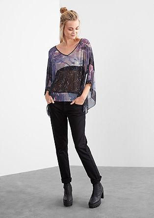 Transparenz-Bluse mit Fotoprint