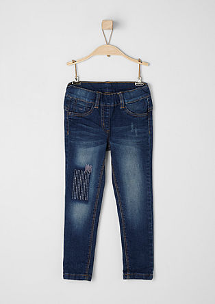 Treggings: Denim with embroidery from s.Oliver
