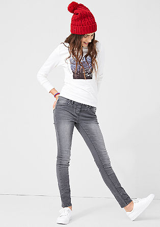 Treggings: Graue Jeans