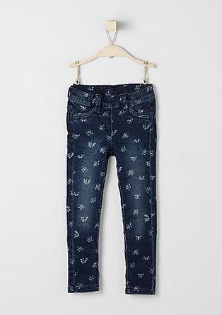 Treggings: Jeans mit Blümchen