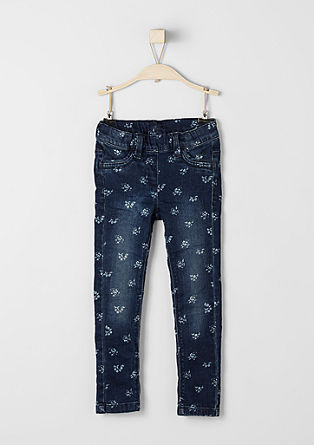 Treggings: jeans with flowers from s.Oliver