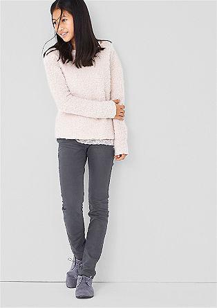 Treggings: Stretch-Jeans mit Sitzfalten