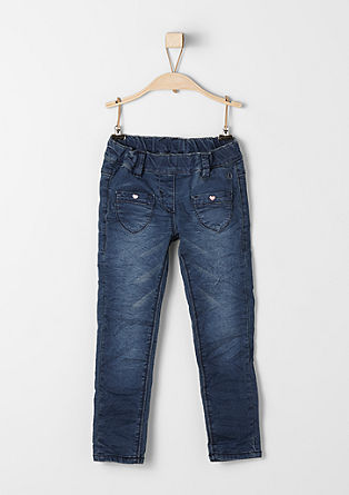 Treggings: stretch jeans with hearts from s.Oliver