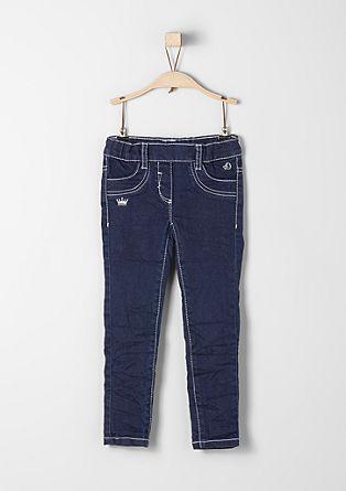 Treggings Skinny: jeans hlače z vezenjem