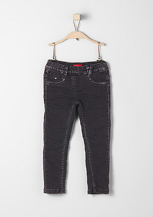 Treggings Skinny: Jeans mit Glitzer
