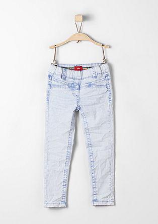 Treggings Skinny: Marogasto sprane jeans hlače