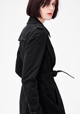 Trench coat with tonal piping from s.Oliver