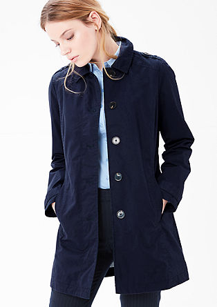 Trench parka made of twill from s.Oliver