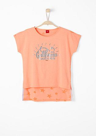 Trendy shirt met glitter en sterren