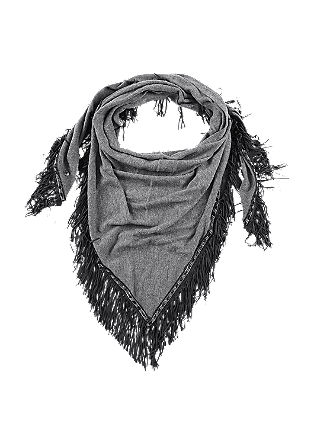 Triangular fringed scarf from s.Oliver