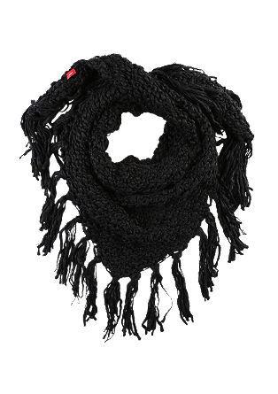 Triangular scarf with fringing from s.Oliver