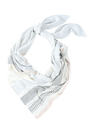 Triangular XL scarf made of woven fabric from s.Oliver