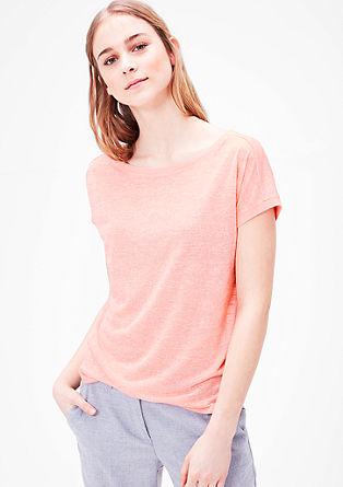 Tričko s vypalovanou strukturou a vzhledem lnu