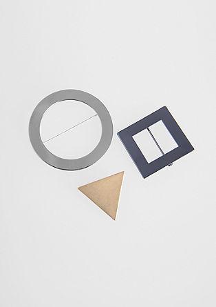Tricolor Broschen-Set