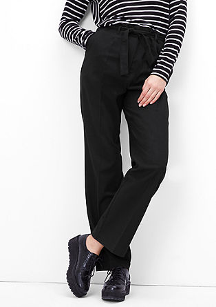 Trousers in a flannel look from s.Oliver