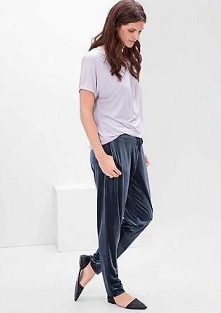 Trousers in shimmery velvet from s.Oliver