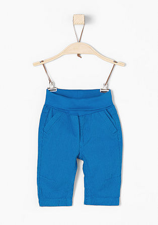 Trousers with a turn-down waistband from s.Oliver