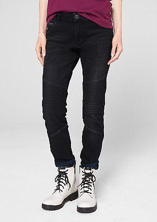 Tube: jeans met een bikerlook
