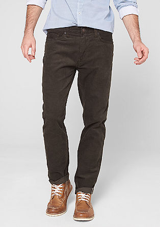 Tube: Slim fit corduroy trousers from s.Oliver