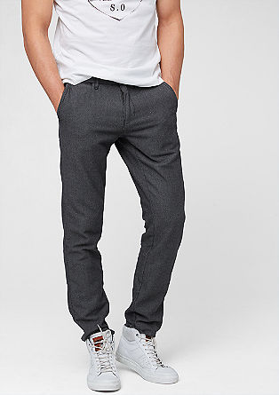 Tubx Chino: flannel chinos from s.Oliver