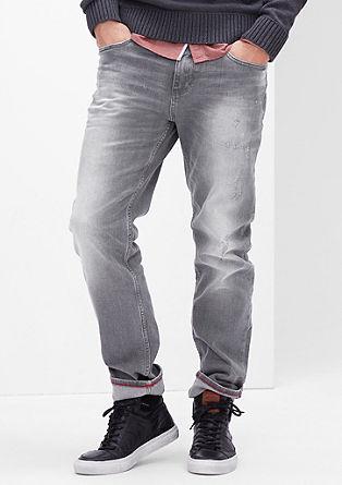 Tubx Chino: sive jeans hlače obrabljenega videza