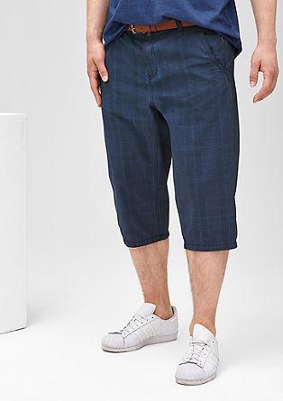 Tubx Regular: Bermuda hlače s tkanim karirastim vzorcem