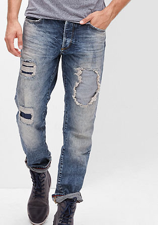 Tubx Straight: Destroyed-Jeans