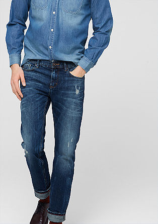 Tubx Straight: Distressed jeans from s.Oliver