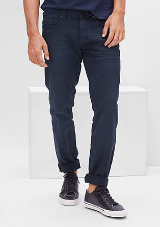 Tubx Straight: Dunkle Stretchdenim