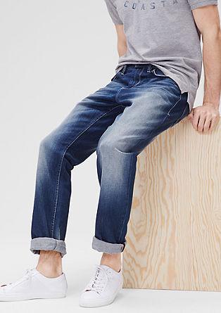 Tubx Straight: Jeans hlače v ponošenem videzu